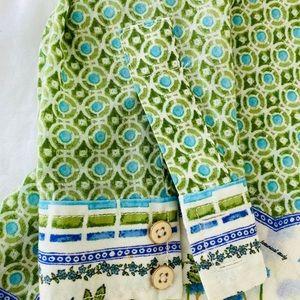 Tory Burch Printed Longsleeve Buttondown Shirt